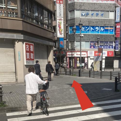 池袋駅北口〜クラブハートへの道案内3